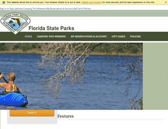 floridastateparks.reserveamerica.com screenshot