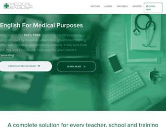 medicalenglish.com screenshot