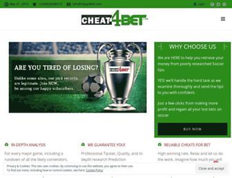 cheat4bet.com screenshot