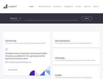 support.bigcommerce.com screenshot