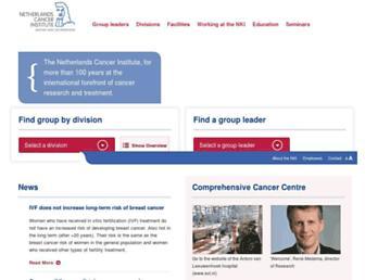 Main page screenshot of nki.nl