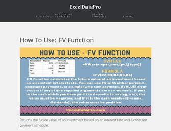 exceldatapro.com screenshot
