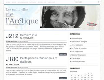 Main page screenshot of sentinelles.liberation.fr