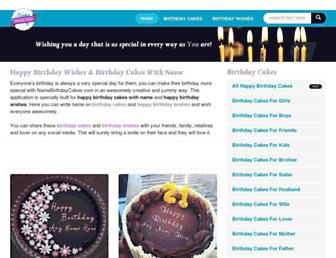 namebirthdaycakes.com screenshot