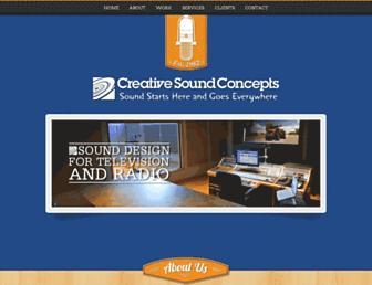 creativesoundconcepts.com screenshot