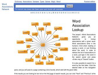 wordassociations.net screenshot