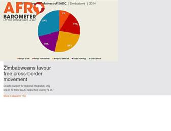 afrobarometer.org screenshot