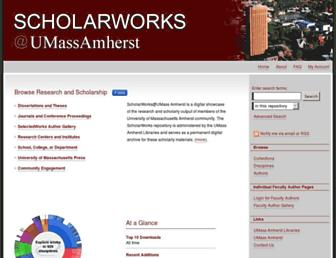 scholarworks.umass.edu screenshot