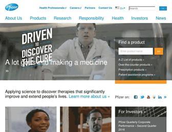 Thumbshot of Pfizer.com