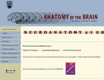 neuroanatomy.ca screenshot