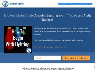 learnstagelighting.com screenshot