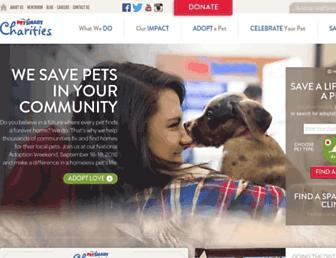 Main page screenshot of petsmartcharities.org
