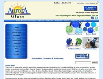 Main page screenshot of auroraglass.org