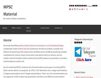 mpscmaterial.com screenshot