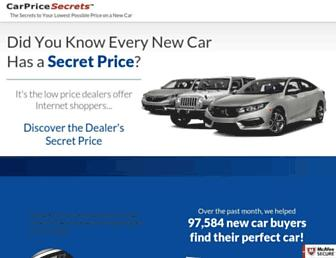 carpricesecrets.com screenshot