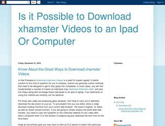 downloadsxhamstervideos.blogspot.com screenshot