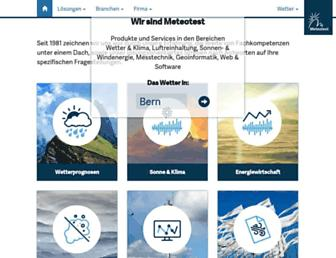Main page screenshot of meteotest.ch