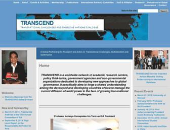 Main page screenshot of transcend-global.org