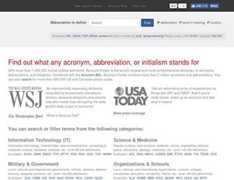 acronymfinder.com screenshot