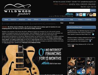 wildwoodguitars.com screenshot