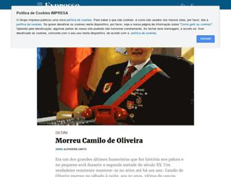 Main page screenshot of expresso.pt