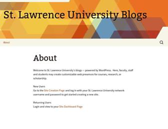 Main page screenshot of blogs.stlawu.edu
