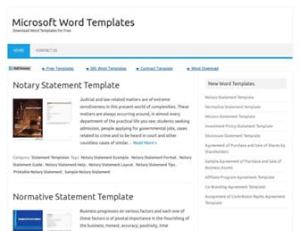 mywordtemplates.org screenshot