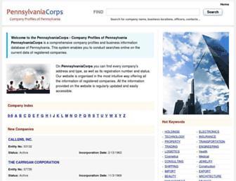 pennsylvaniacorps.com screenshot