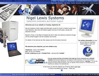 nigellewissystems.co.uk screenshot
