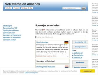 Main page screenshot of beleven.org