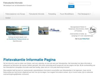 Main page screenshot of fietsvakantiepagina.nl