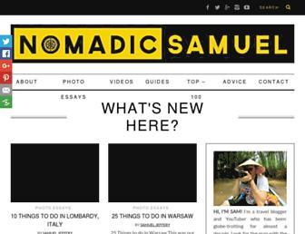 Thumbshot of Nomadicsamuel.com
