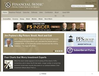 financialsense.com screenshot