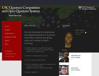 Main page screenshot of qserver.usc.edu