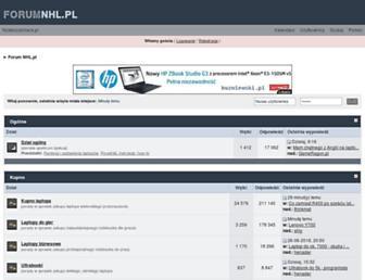 Main page screenshot of nhl.pl
