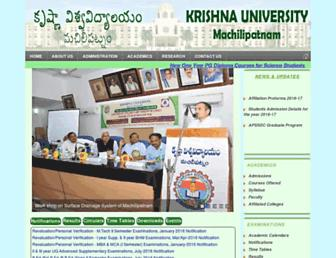 krishnauniversity.ac.in screenshot