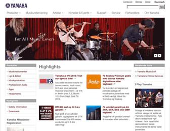 dk.yamaha.com screenshot