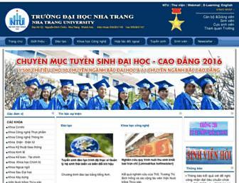 Main page screenshot of ntu.edu.vn