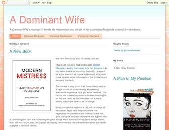 dominant-wife.blogspot.com screenshot