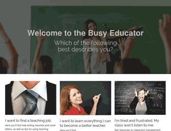 thebusyeducator.com screenshot