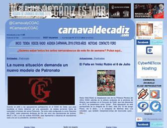 carnavaldecadiz.com screenshot