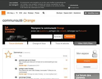 communaute.orange.fr screenshot