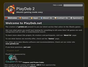 Main page screenshot of playdeb.net