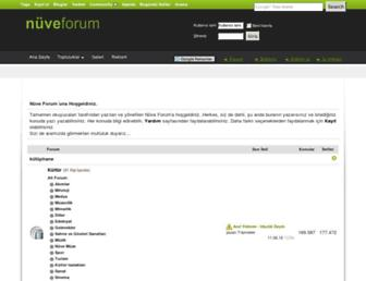 Main page screenshot of nuveforum.net