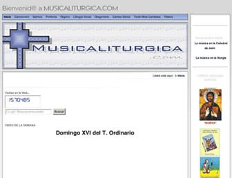 musicaliturgica.com screenshot