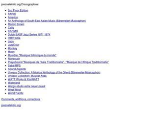 discog.piezoelektric.org screenshot