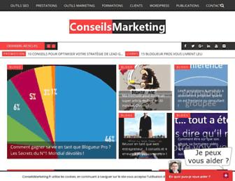 conseilsmarketing.com screenshot