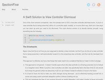 sectionfive.net screenshot
