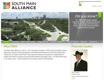 Main page screenshot of southmainalliance.org
