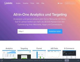 Main page screenshot of 4stats.de